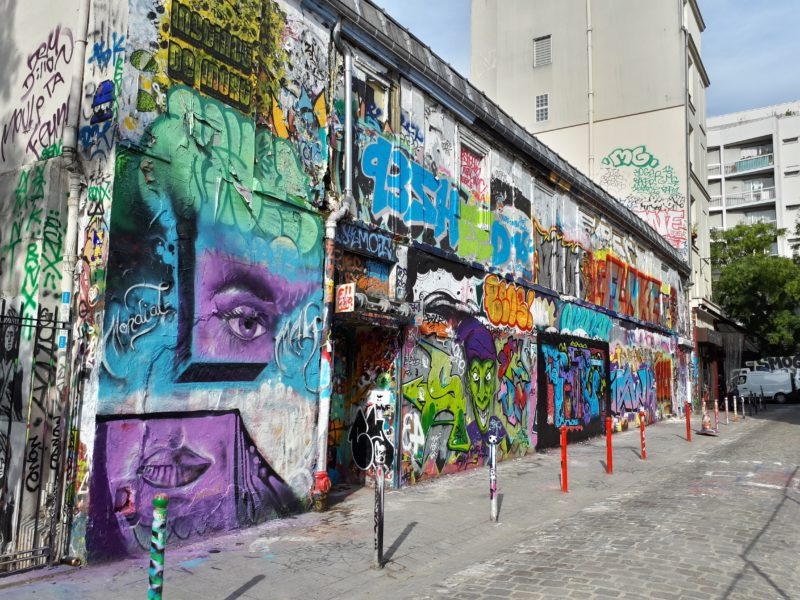 Rue Dénoyez – rue du graffiti