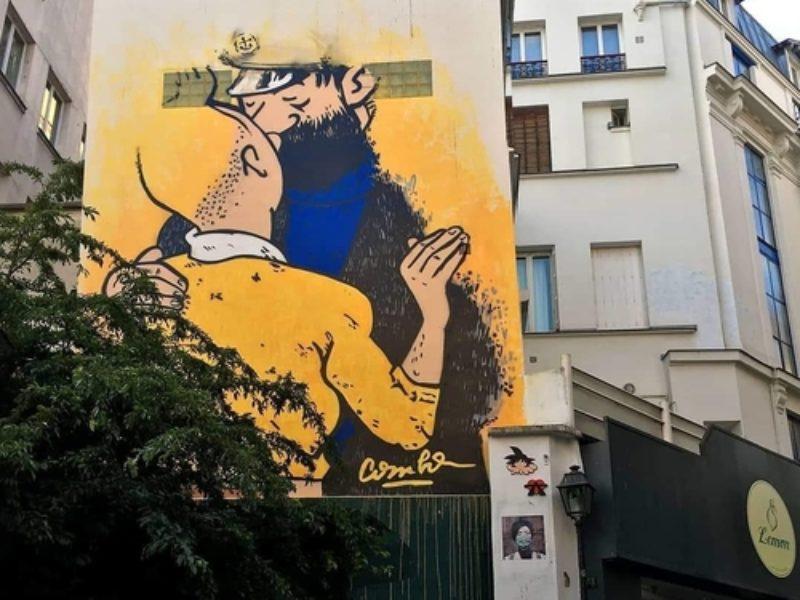 Pride month is honoured by street artists all around Paris